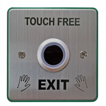 Touch Free Exit Button with Back Box